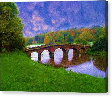 Impressions Of Stourhead Canvas Print by Ron Harpham