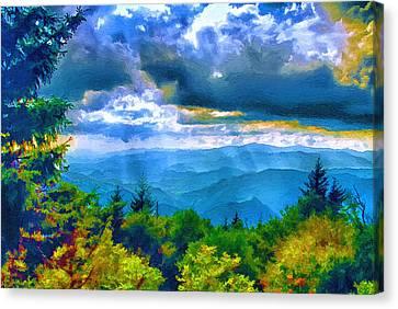 Impressions Of Waterrock Knob On The Blue Ridge Parkway Canvas Print