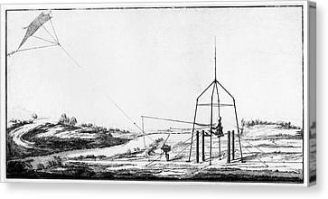 Improvement Of Franklin's Electrical Kite Canvas Print by American Philosophical Society