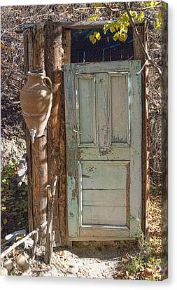 Improvised Outhouse Canvas Print
