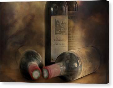 Vino Canvas Print - In A Corner Of A Wine Cellar by Georgia Fowler