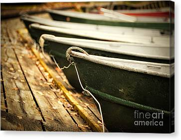 In A Line Canvas Print by Todd Bielby