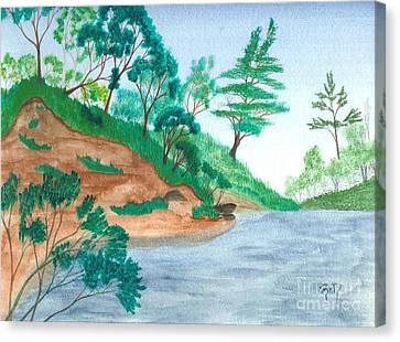 Canvas Print - In A Mine Pit by Robert Meszaros