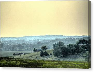 In A Misty Hollow Canvas Print by William Fields