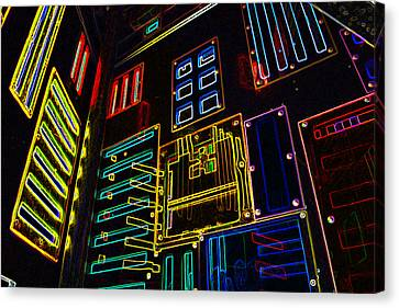 In A Neon-box Canvas Print