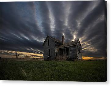 Abandoned Houses Canvas Print - In A Past Life by Aaron J Groen