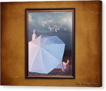 In A Scene In A Dream That's So Far Away Canvas Print by Gate Gustafson