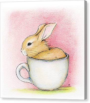 In A Tea Cup Canvas Print by Penny Collins