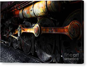 Old Sacramento Canvas Print - In A Time When Steam Was King 5d25491 V1 by Wingsdomain Art and Photography