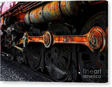 Old Sacramento Canvas Print - In A Time When Steam Was King 5d25491 V2 by Wingsdomain Art and Photography