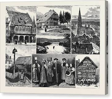 In And About The Black Forest 1. The Merchants Hall Canvas Print by English School