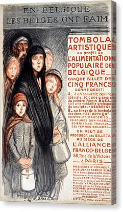 In Belgium The Belgians Are Hungry, 1915 Canvas Print by Theophile Alexandre Steinlen