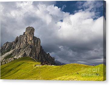 In Between Peaks And Clouds Canvas Print