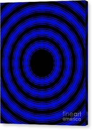 Canvas Print featuring the painting In Circles- Blue Version by Roz Abellera Art