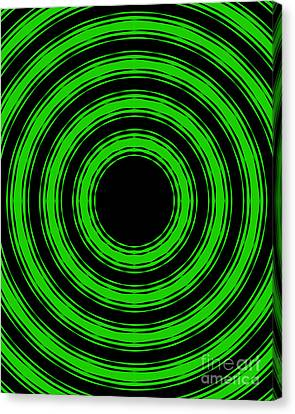 Canvas Print featuring the painting In Circles-green Version by Roz Abellera Art