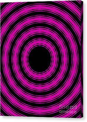 Canvas Print featuring the painting In Circles-pink Version by Roz Abellera Art