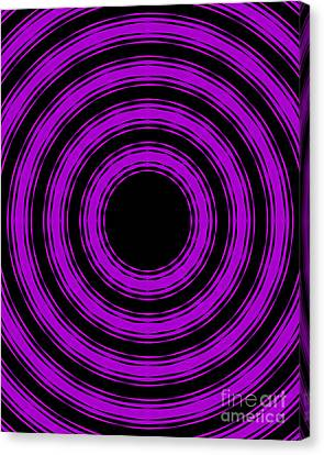 Canvas Print featuring the painting In Circles-purple Version by Roz Abellera Art