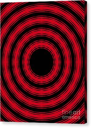Canvas Print featuring the painting In Circles- Red Version by Roz Abellera Art