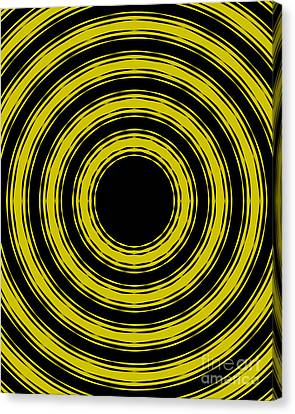 Canvas Print featuring the painting In Circles- Yellow Version by Roz Abellera Art