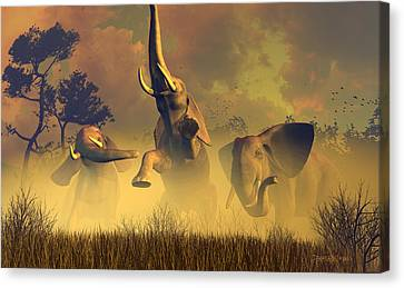 In Defense Of The Realm Canvas Print by Dieter Carlton