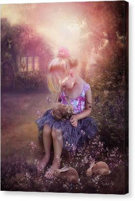 In Fairy Tales Canvas Print by Cindy Grundsten