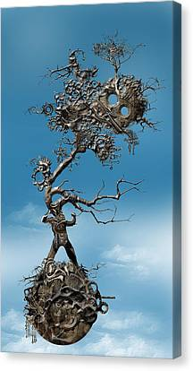 Canvas Print featuring the digital art In Fato Scientia  by Andy Walsh