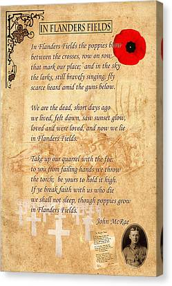 In Flanders Fields Canvas Print by Andrew Fare