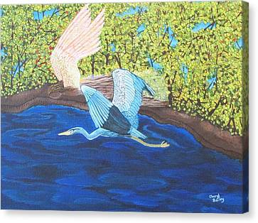 Canvas Print featuring the painting In Flight by Cheryl Bailey