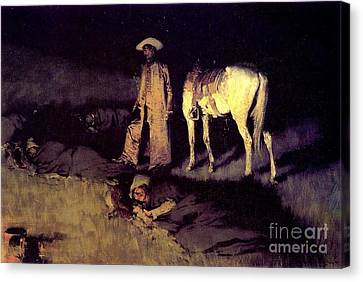 In From The Night Herd Canvas Print by Pg Reproductions