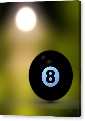 In Front Of The Eight Ball Canvas Print by Bob Orsillo