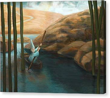 In His Boat Canvas Print by Catherine Swenson