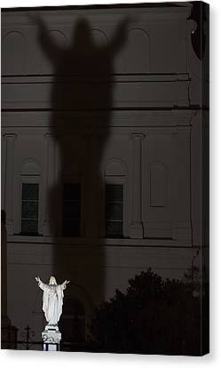 In His Shadow Canvas Print