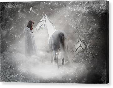 In Honor Of The Unicorn D4079 Canvas Print by Wes and Dotty Weber