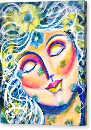 Canvas Print featuring the painting In Love by Anya Heller