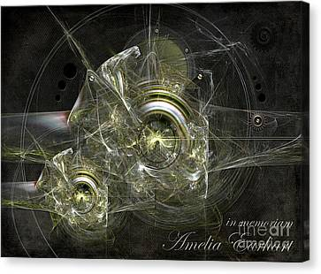 Canvas Print featuring the painting In Memoriam Amelia Earhart by Alexa Szlavics