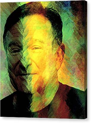 In Memory Of Robin Williams Canvas Print by Ally  White