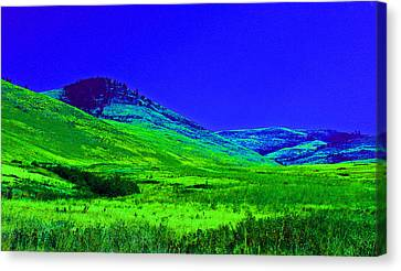 In Montana  Canvas Print