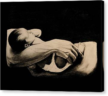 In My Arms Canvas Print by Caroline  Reid
