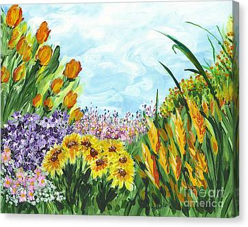In My Garden Canvas Print by Holly Carmichael