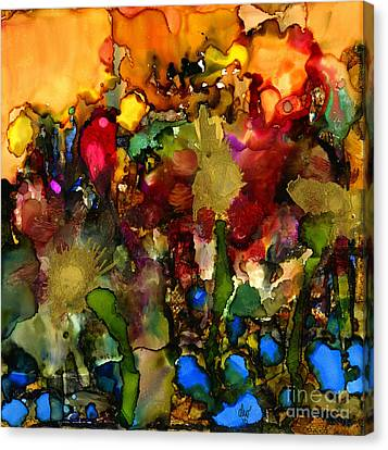 In My Sister's Garden Canvas Print by Angela L Walker