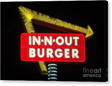 In-n-out Burger Canvas Print by Eddie Yerkish