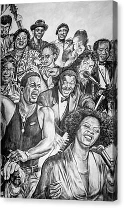 In Praise Of Jazz Canvas Print by Steve Harrington