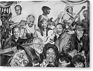 In Praise Of Jazz V Canvas Print by Steve Harrington