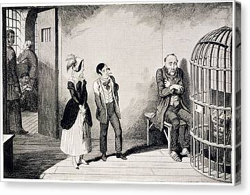 In Prison Canvas Print by British Library