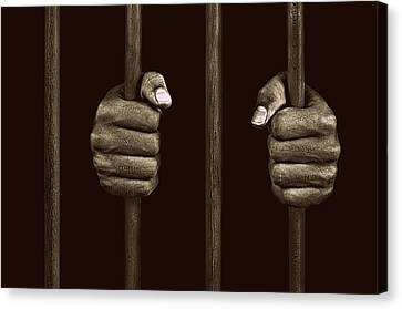 In Prison Canvas Print