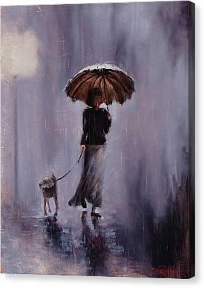 In Rain Or Shine Canvas Print by Laura Lee Zanghetti