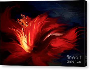 In Red Canvas Print by Shanina Conway