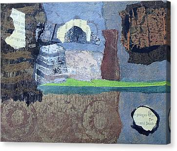 Canvas Print featuring the mixed media In Ruins by Catherine Redmayne