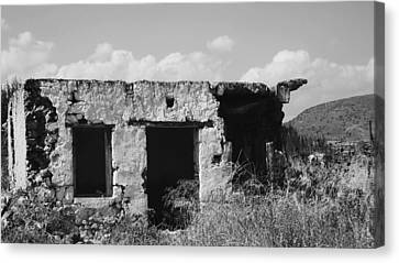 Canvas Print featuring the photograph In Ruins by Diane Miller