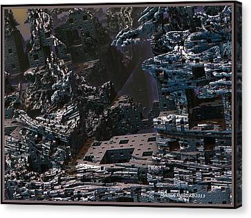 Canvas Print featuring the digital art In Ruins by Melissa Messick
